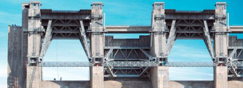 Staudamm Indira Sagar, Indien - Stahlwasserbau Montanhydraulik GmbH